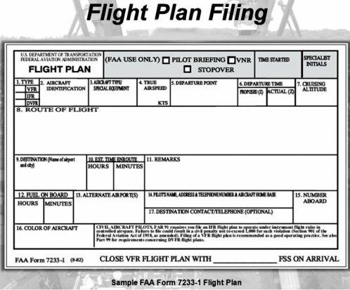 Blank Flight Plan